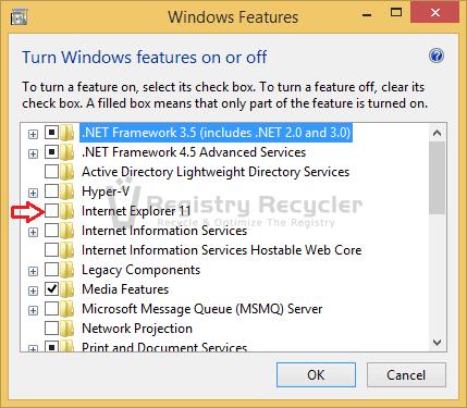 Install or Uninstall Internet Explorer in Windows 8.1